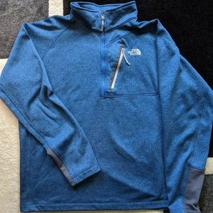 North Face Blue Quarter Zip Fleece Size XL